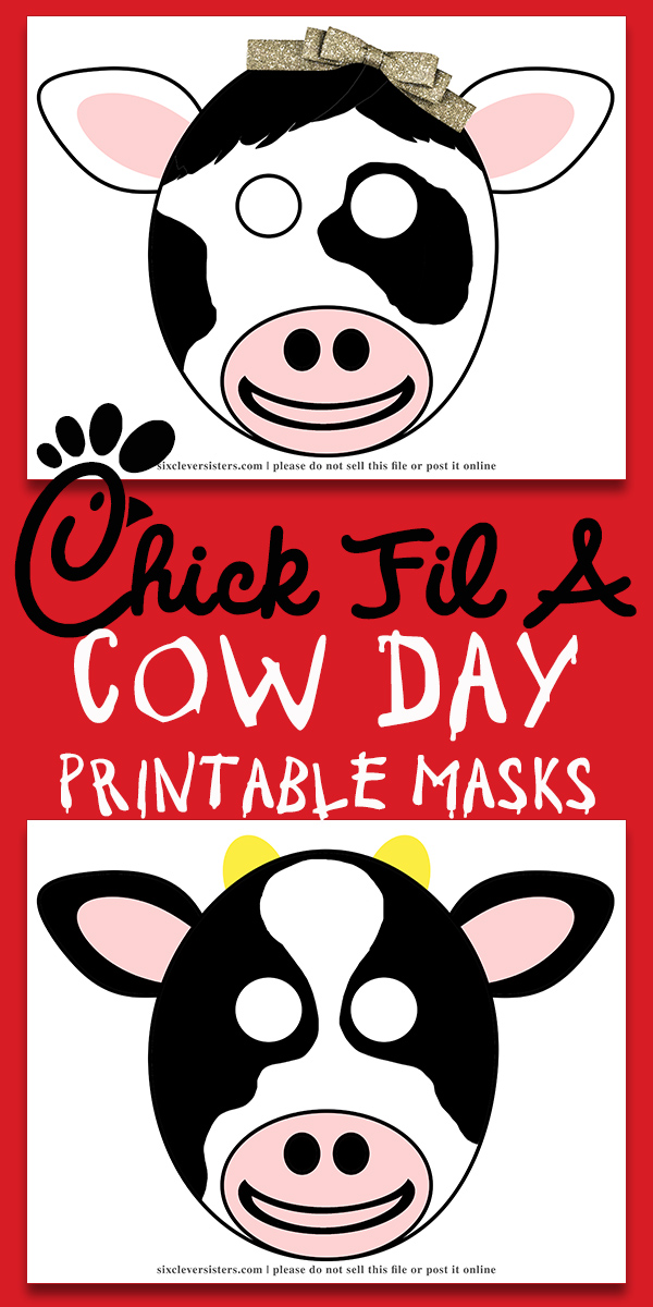 This is a graphic of Inventive Chick Fil a Cow Appreciation Day Printable