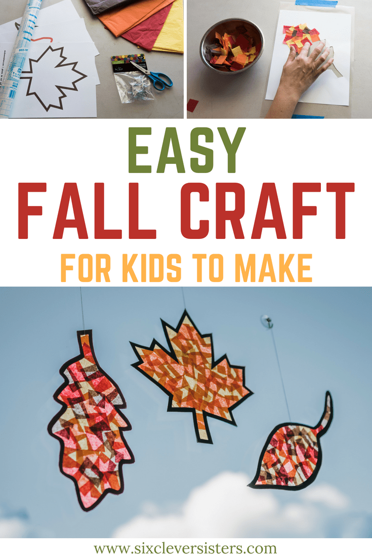 graphic relating to Printable Fall Crafts titled Straightforward Tumble Craft for the Kiddos - 6 Wise Sisters