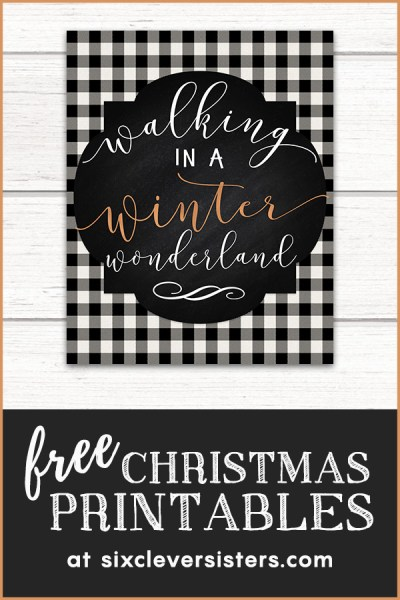 Free Christmas Printables | Free Christmas Printables Buffalo Plaid | Free Christmas Printables Buffalo Check | Free Christmas Printables Black and White | Plaid Christmas Printables Free