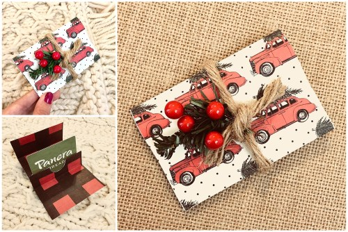 Buffalo Plaid Christmas | DIY Gift Card Holder | Christmas Gift Card Holder | DIY Paper Gift Card Holder | Buffalo Plaid Decor | Buffalo Plaid Christmas | Free Pattern Gift Card Holder | Gift Card Tutorial | Gift Card Ideas | Gift Card Presentation | Christmas Gifts | Christmas Paper Decor | Christmas Paper Crafts | Six Clever Sisters