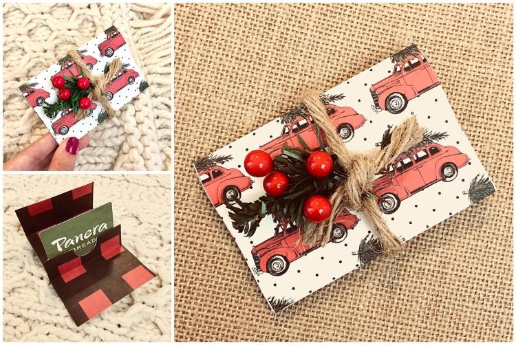 Buffalo Plaid And Christmas Tree Diy Gift Card Holder Six Clever