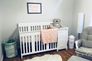 Baby Girl Nursery | Rustic | Room Ideas | Themes | Floral | DIY | Pink and Gray | Modern | Decor | Shabby Chic | Six Clever Sisters