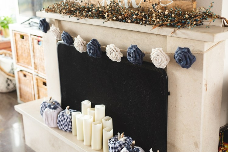 Burlap Rose Garland | DIY Burlap Garland | DIY Flower Garland Easy | DIY Rose Garland Shabby Chic | DIY Burlap Roses | Easy instructions on how to make a Burlap Rose Garland on the Six Clever Sisters blog!