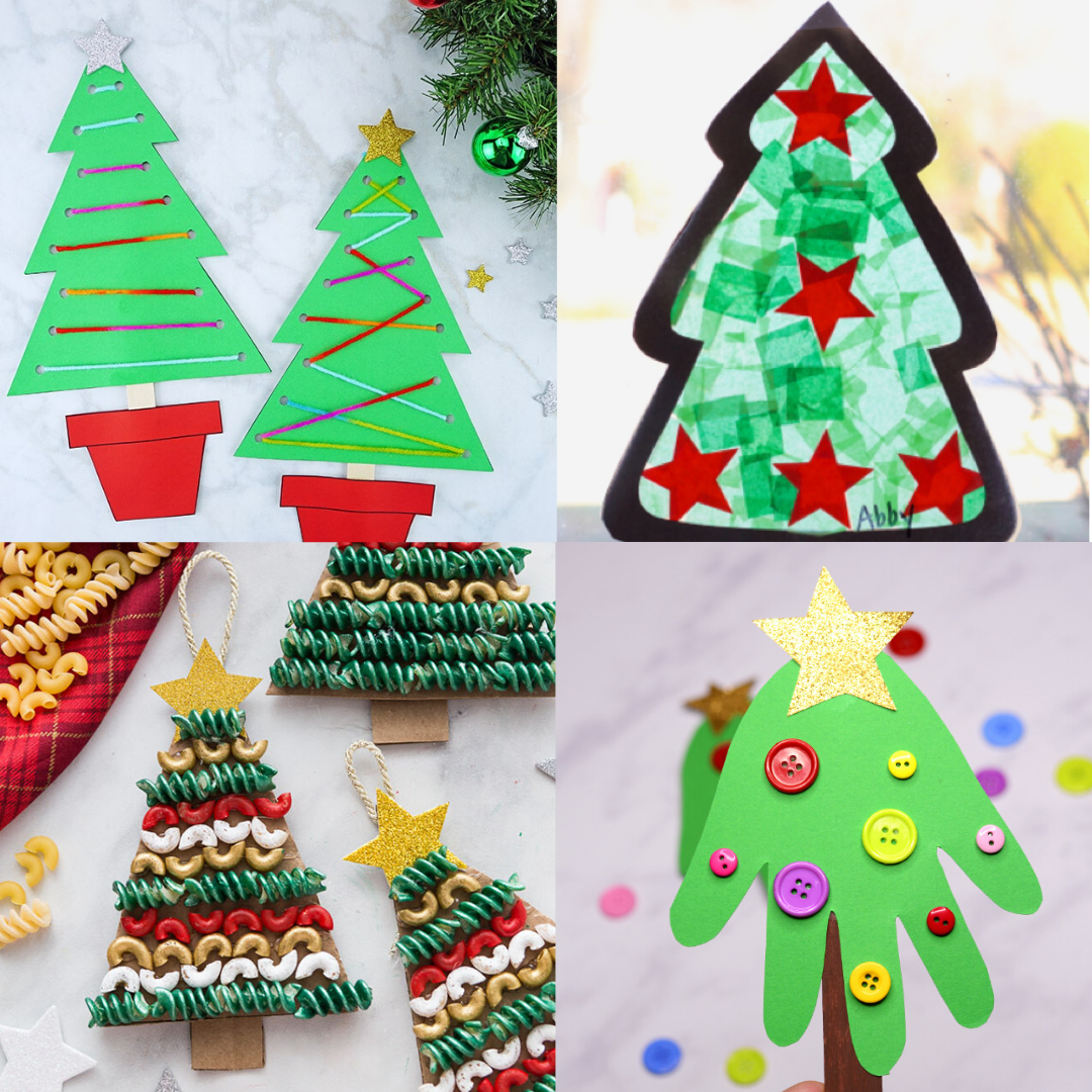 Christmas Tree Crafts For Kids Six Clever Sisters