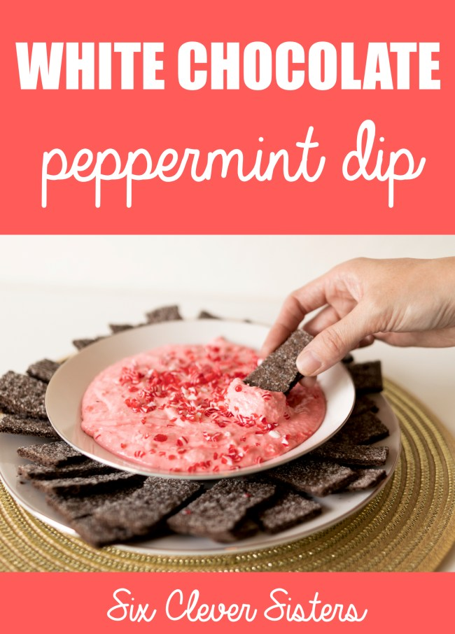 Peppermint Dip Recipe | Holiday Recipes 2019 | Holiday Recipes Desserts | Holiday Recipes Easy | Holiday Snack Ideas | Peppermint Dip | Peppermint Cream Cheese Dip | Holiday Snack Ideas | Looking for an easy and delicious, holiday, party food snack recipe? This simple recipe for white chocolate peppermint dip is a festive holiday recipe to take to Christmas parties and gatherings! #sixcleversisters #holiday #christmas #holidayrecipes #peppermint #snack #snackideas #festive