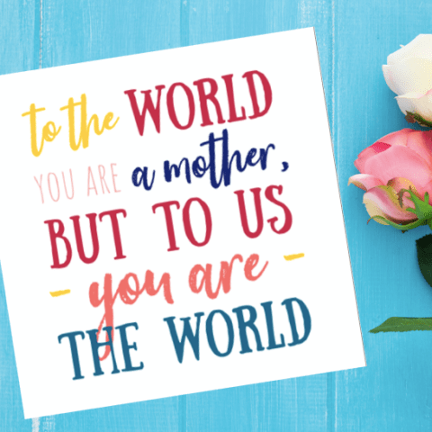 Free Printable Mothers Day Card | Pretty Mothers Day Card | Mothers Day Gift Idea | Mothers Day Quotes | Mothers Day Party | Mothers Day Ideas | Free Printable Cards | Free Printable Mom | Mom Quotes | Mom Life | Six Clever Sisters
