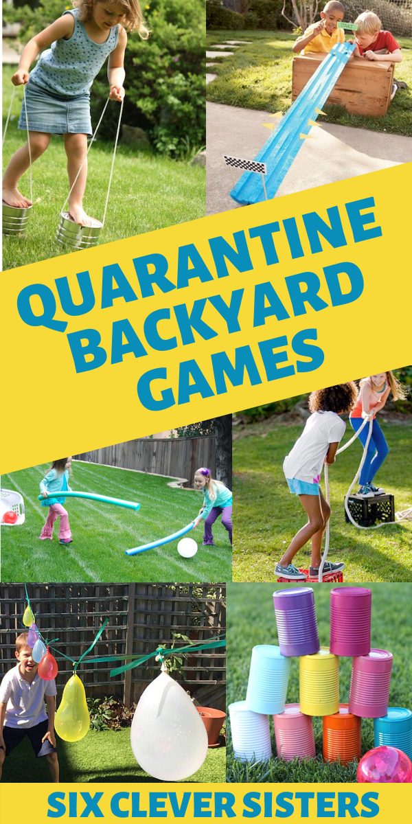 20 Backyard Activities For Kids Six Clever Sisters