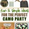 Army Camo Party Ideas | Birthday | Boy Birthday Party Ideas | Army Party | Camo Party | Soldier Party | Kid Party Ideas | Kid Birthday | Boys Party Ideas | Camo | Six Clever Sisters