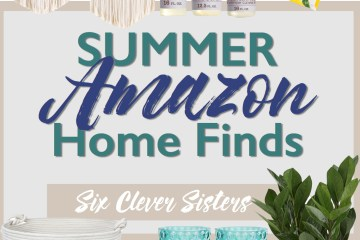 Summer Amazon Home Finds | Summer Decor | Amazon Deals | Farmhouse | Chic | Boho | Farm Decor | Home | Cheap Decor | Amazon Home | How to Decorate | Macrame | Pillows | Towels | Lamp | Soap | House Decor | Six Clever Sisters