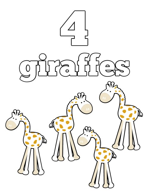 Preschool Numbers Coloring Page | Free Printable Preschool | Free Printable Pre K Worksheets | Free Printable Preschool Activities | Free Printable Preschool Math Worksheets | Free Printable Coloring Pages | Free Printable Coloring Pages for Kids | Six Clever Sisters