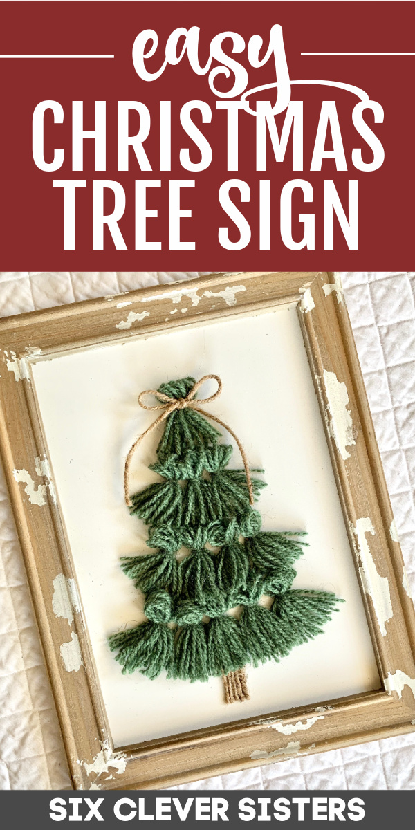DIY Wood Sign for Christmas | Christmas Decoration | Easy Christmas Craft | Easy Christmas Project | Christmas Gift | Handmade Christmas | Farmhouse Christmas | Country Christmas | Six Clever Sisters