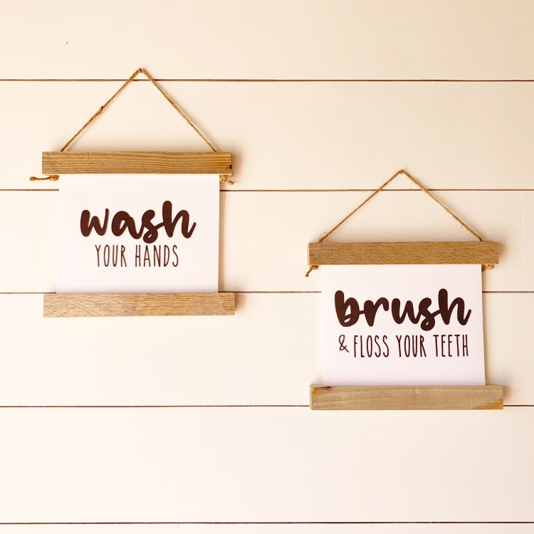 Free Printables for Home | Free Printable Wall Art | Free Printables Farmhouse | Farmhouse Decor | Farmhouse Bathroom | Free Printables | Six Clever Sisters