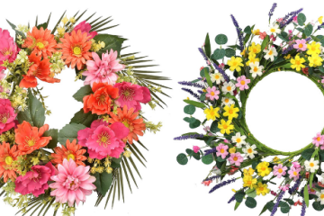 Spring Wreaths | Spring Wreath Ideas | Spring Wreath for Front Door | Spring Wreath Amazon | Spring Wreath Artificial | By simply changing your wreath from time to time or with the different seasons, you can give your home a little boost and refresh with added decor. These spring wreaths all on Amazon are just gorgeous and certainly welcome spring! #wreath #amazon #spring #springdecor #decor #home #homedecor