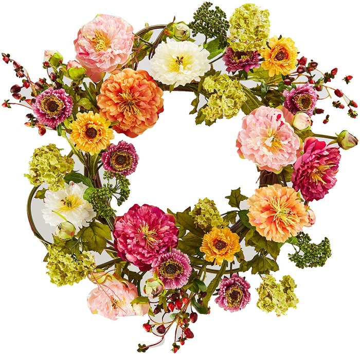 Spring Wreath | Spring Wreath Ideas | Spring Wreath for Front Door | Spring Wreath Amazon | Spring Wreath Artificial | By simply changing your wreath from time to time or with the different seasons, you can give your home a little boost and refresh with added decor. These spring wreaths all on Amazon are just gorgeous and certainly welcome spring! #wreath #amazon #spring #springdecor #decor #home #homedecor