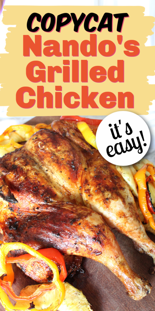 Nandos Copycat Grilled Chicken | Best Grilled Chicken | Spatchcock Chicken | Chicken Recipes | BBQ Recipes | Grill Recipes | Juicy Chicken Recipe | Easy Chicken Recipe | Easy Dinner Recipe | Dinner Ideas | Meal Planning | Six Clever Sisters
