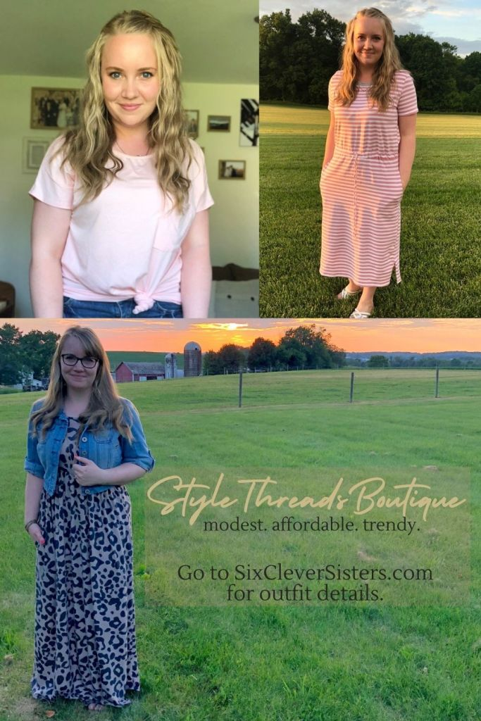 Modest Clothes | StyleThreadsBoutique | Easy Tee | Everyday Wear | Comfy Tee | Modesty | Womens Clothing | Womens Fashion | StyleThreadsBoutique has so many cute and affordable modest clothes for women!