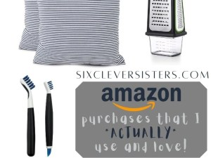 Best Amazon Purchases   Amazon Gadgets   Amazon List   Love Amazon   What to Buy on Amazon   Here's my list of all the things I've purchased on Amazon.com that I *actually* use and love! Find them all at SixCleverSisters.com