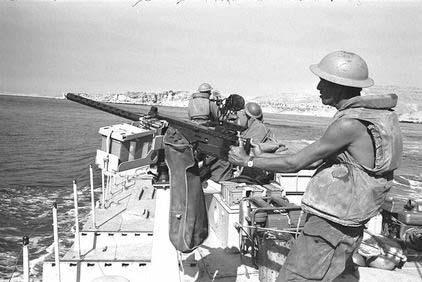 Israeli Gunboat passing through the Straits of Tiran near Sharm el Shaikh