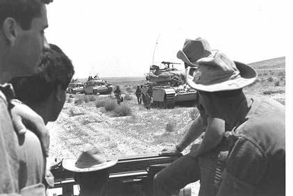 Tanks in the Negev Desert