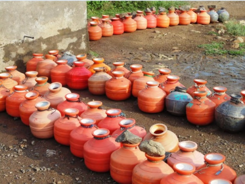 Water scarcity in Latur in drought of 2015 (Photo: SANDRP)