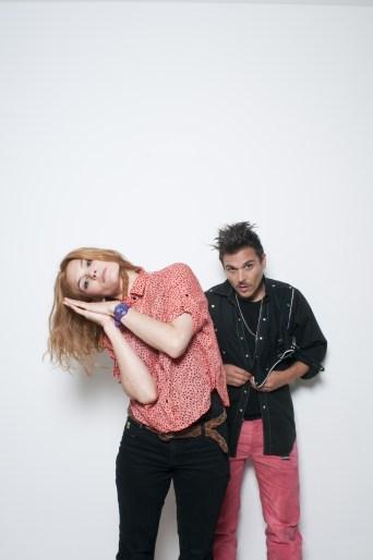 L-R: Olivia Merilahti & Dan Levy