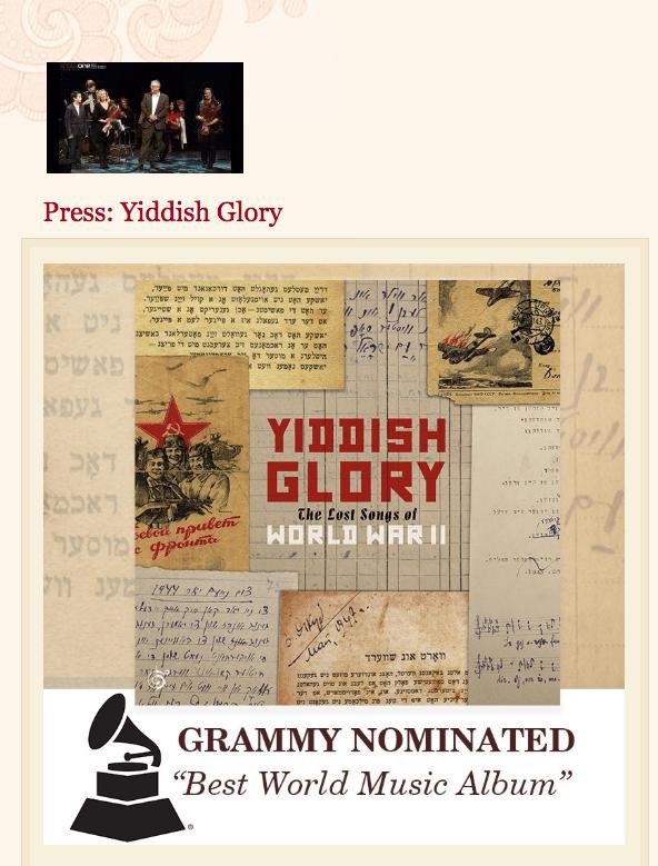 Inspiring Yiddish Glory Press Quotes