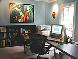 home office after staging by Six Elements