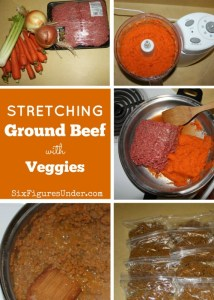 Stretching Ground Beef with Vegetables– Frugal, Healthy, and Convenient