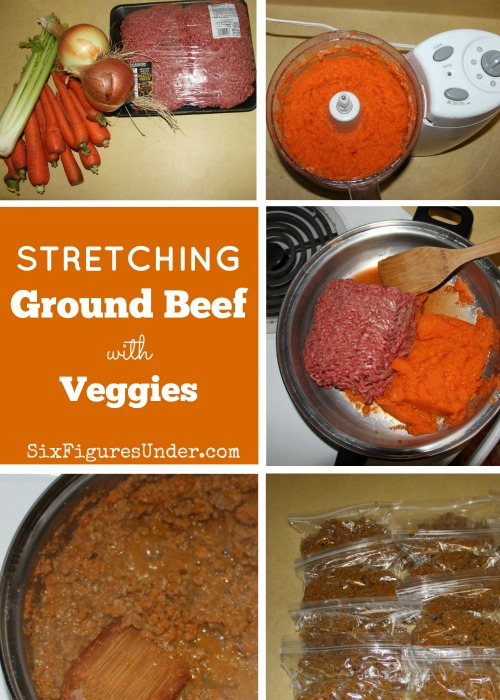Ground beef is getting so expensive! Using vegetables to stretch your ground beef is not only frugal, but healthier! Follow this step-by-step tutorial to learn how!