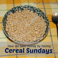 Cold Cereal Sundays
