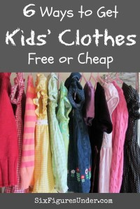 6 Ways to Get Kids' Clothes for Free or Cheap