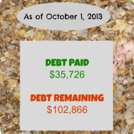 September 2013 Debt Repayment Progress Report