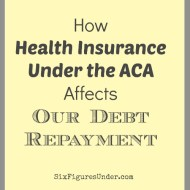 How Health Insurance Under the ACA Affects Our Debt Repayment