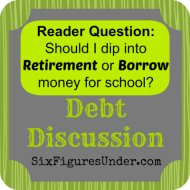 Should I Dip into Retirement or Borrow Money for School?– A Reader Question