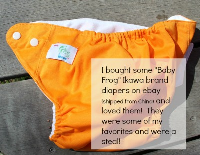 Ikawa brand diapers were some of my favorite Chinese diapers. Read about how we got our cloth diaper stash for less than $100!