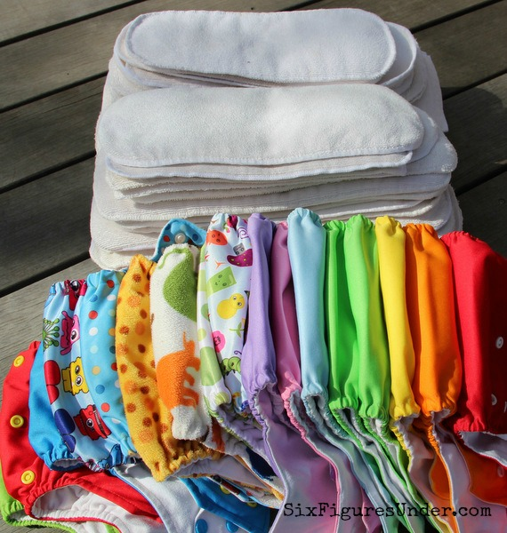 We spent less than $100 on our cloth diaper stash. We got all of our diapers free or cheap. Here are 10 strategies that can help you do so too!