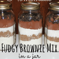 Fudgy Brownie Mix in a Jar– Fast and Easy Homemade Gift