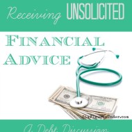 Receiving Unsolicited Financial Advice