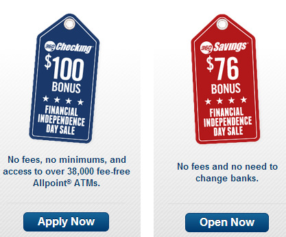 If you don't have a Capital One 360 Checking or Savings account yet,NOW is the time to get one! With their Independence Day Deal, you will get $100 for opening a checking account or $76 for opening a savings account.