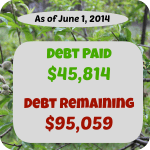 debt payoff stats june 1, 2014