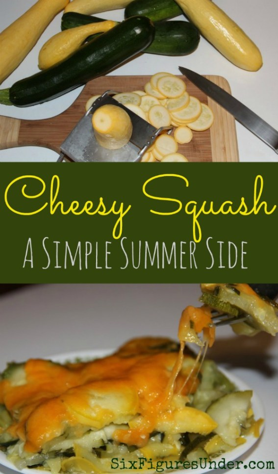 Cheesy Squash is a delicious way to enjoy the zucchini and yellow squash from your garden. Everyone loves this simple summer side dish.