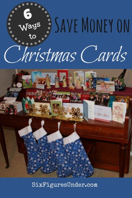 Sending an annual holiday greeting can be expensive. Here are 6 ways to save money on Christmas cards this year! Even on a tight budget it can be done!