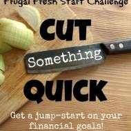 Cut Something Quick!– Frugal Fresh Start- Day 2