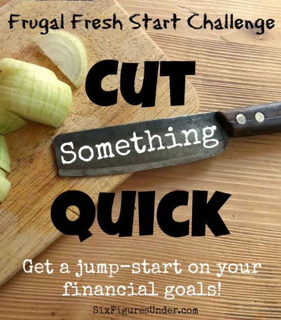Jump-start your financial goal by choosing something to cut out right now, even before we get into tracking spending, budgeting, or cutting expenses. Do you have something in mind? Here are some ideas!