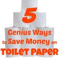 5 Genius Ways to Save Money on Toilet Paper