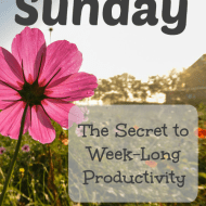 Sunday: The Secret to Week-Long Productivity