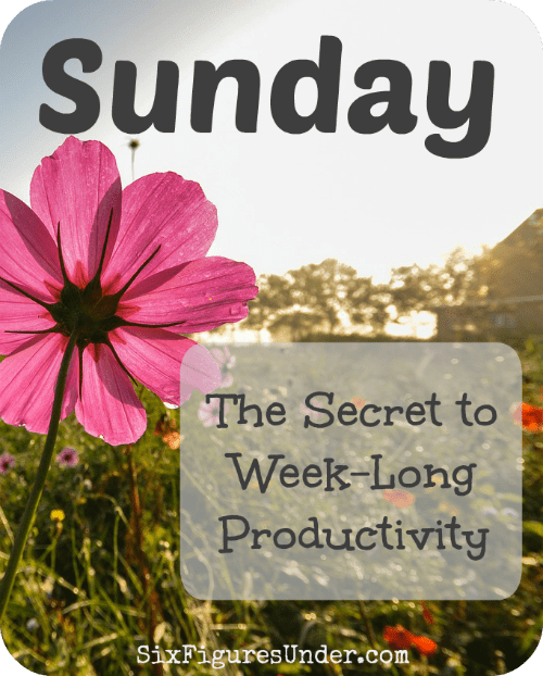 Sunday is my secret weapon to being productive and getting things done. The funny thing is that I don't actually do anything on my lengthy to-do list on Sunday.