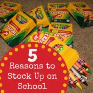 5 Reasons to Stock Up on School Supplies