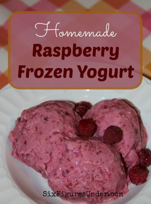 Homemade ice cream is delicious but the ingredients are pricey. Frozen yogurt, on the other hand is very frugal. Homemade Raspberry Frozen Yogurt is one of our favorite summer treats. Make your own with this photo tutorial!