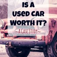 Is buying a used car worth it? A Case Study